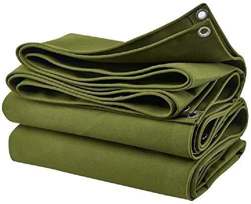 NUOCHEN Hoja de Lona Lona Muebles Caravana Cubierta a Prueba de Agua Hoja de Lona Desgaste Positiva Lienzo Resistencia inversa de PVC Resistencia a la extracción/lágrima, 650 g/m² Verde (Color: 6x5m)
