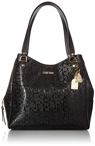 Calvin Klein Monica Signature Triple Compartment Hobo, CEMENT