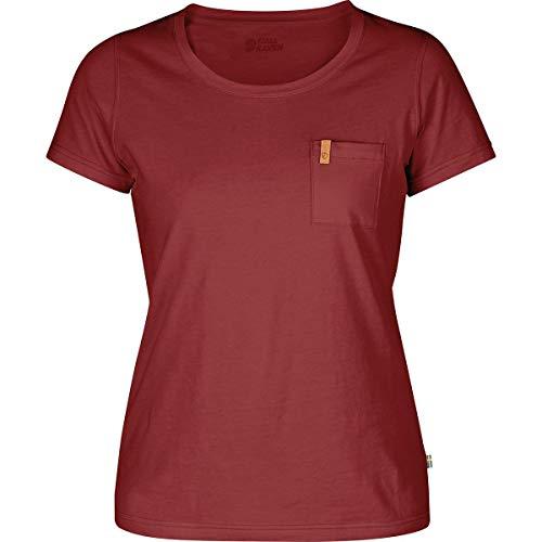 Fjallraven Övik T-Shirt W Tricot Femme, Rouge Framboise, S