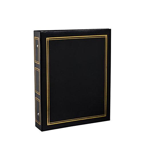 ARPAN - Álbum de Fotos Deluxe con Anillas, Hojas Autoadhesivas (40 hojas/80 Caras), tamaño Grande, 28,5x23x5,5cm, Color Negro