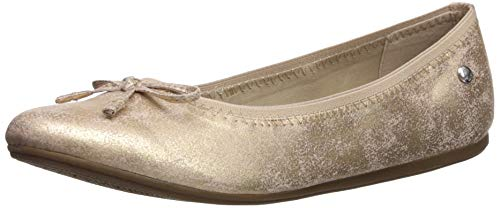 Hush Puppies girls Josie Ballet Flat, Rose Gold, 4 Big Kid US