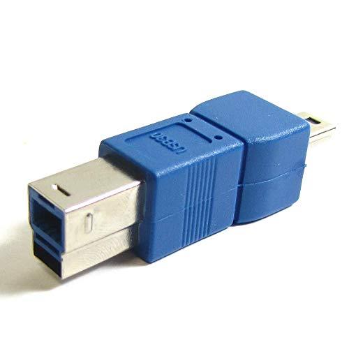 BeMatik - Adaptador USB 3.0 a USB 2.0 (B Macho a MiniUSB...