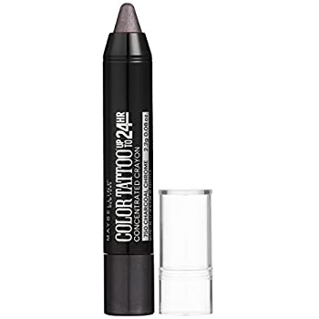 Maybelline Eyestudio ColorTattoo Concentrated Crayon,750 Charcoal Chrome 0.08 oz.