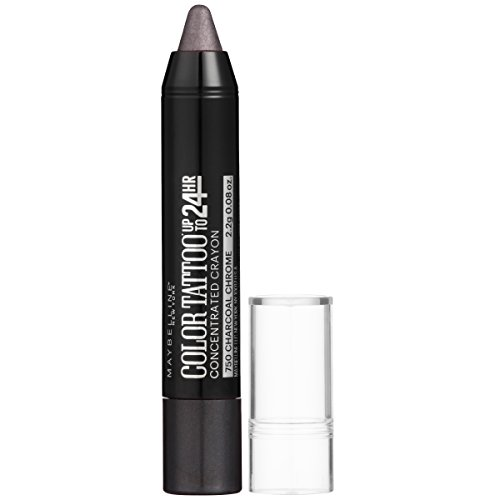 Maybelline Eyestudio ColorTattoo Concentrated Crayon,750 Charcoal Chrome, 0.08 oz.