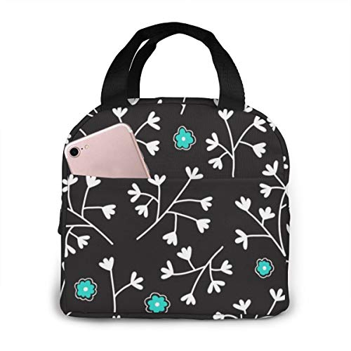 Seamless Floral with Small Flowers Endless 2394 Lunch Bag for Work School for Work Outdoor Travel Picnic