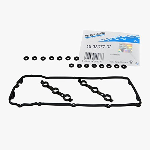 Victor Reinz 11 12 0030 496 Engine Valve Cover Gasket Set OEM 15-33077-02 plus 15 Grommet Seals