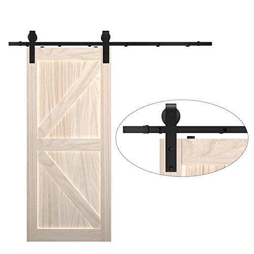 6.6foot Sliding Barn Door Hardware Kit, 5 Tracks Stitching for More Firmness, Fit for 35