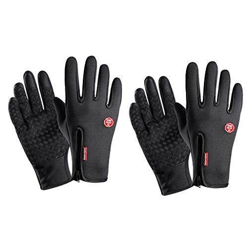 Amuzocity 2 guantes antideslizantes para pantalla táctil de invierno cálidos