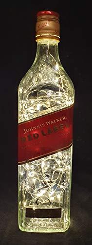 Johnnie Walker Red Lampe à bouteille avec 80 LED Blanc chaud
