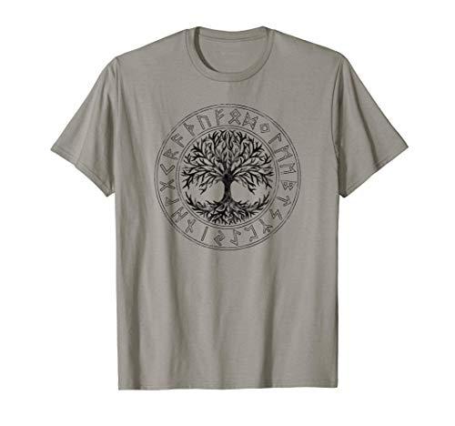 Celtic Tree of Life, Runes, Viking, Yggdrasil, Nordic Symbol T-Shirt
