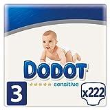 Dodot Sensitive Pañales Talla 3, 222 Pañales,...