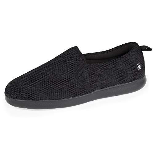 Isotoner - Zapatillas deportivas para hombre con tecnología everywearTM, Negro (Negro ), 41 EU
