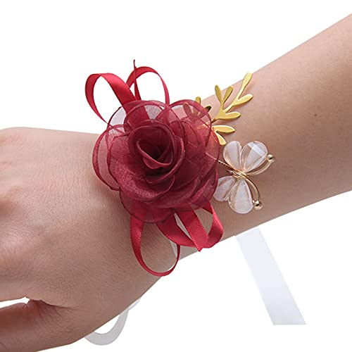 Changge Flor de muñeca suministros de boda novia dama de honor hermanas grupo boda simulación flor red mariposa decoración regalo