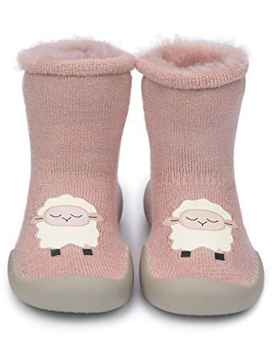 Adorel Zapatos Antideslizantes Calcetines Invierno para Bebé