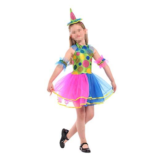 BESTOYARD Outfit pak Halloween Masquerade Party kinderen M (Dress, hoofddeksels, Arm Ornament)