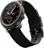 Smart Watch for Women, Bluetooth SmartWatch Haga o recibe Llamadas Fitness Tracker Watch con 1.28 '' Pantalla Impermeable de la Pantalla táctil Redonda de la caloría de calorías (Color : Black)