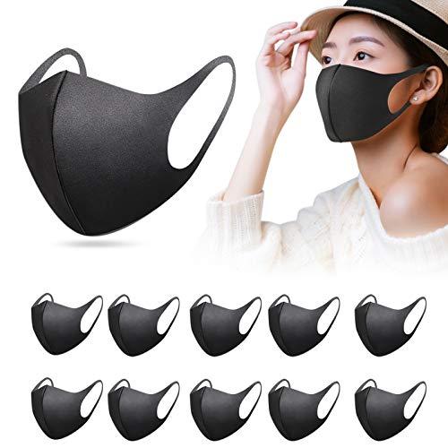 12 Stück mund und nasenschutz mundschutz wiederverwendbar, waschbar, unisex, elastisch, aus Polyurethan-Schaumstoff für Reisen