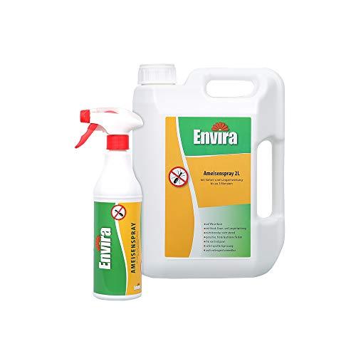 Envira Ameisen-Spray - Anti-Ameisen-Mittel Mit Langzeitwirkung - Geruchlos & Auf Wasserbasis - 500 ml + 2 Liter