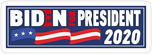 DKISEE (3 PCs/Pack Joe Biden for President 2020 American Election 2020 Kamala Pegatinas troqueladas para laptop, ventana, coche, parachoques, casco, botella de agua de 4 pulgadas