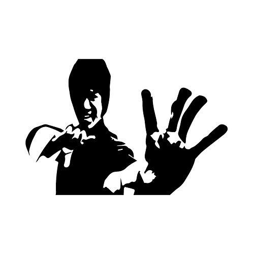WEILONG 15.2CM * 10.3CM Kung Fu Karate Kampf Kampfkunst Bild Autoaufkleber Vinyl Aufkleber C3-0044-Schwarz