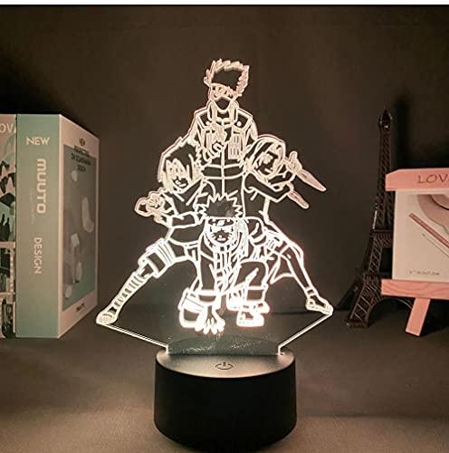 Lámpara de Anime de 16 colores Narutoed наруто Avatar kakashi Panel de luces LED Sensor de luz Lámpara de mesa para dormitorio