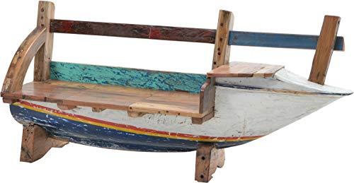 Plob 1020015Seaside Boot Bench Schleife zu der Rechts, 210x 50x 90cm, Mehrfarbig