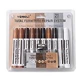 Juego de bolígrafos de color complementario de grano de madera, bolígrafo de retoque de muebles, reparación de suelos y arañazos, color complementario de pintura, 10 unidades