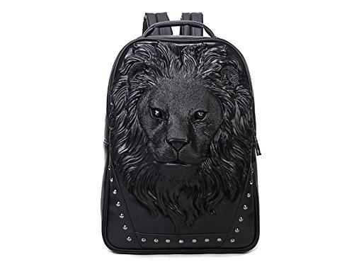 Berchirly 3D Big Head Lion Schoolbag Backpack Hiking Travel Daypack Bag