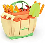 Product Image of the Kinderific Gardening Tool Set, Designed for Kids, STEM, Tote Bag, Spade,...
