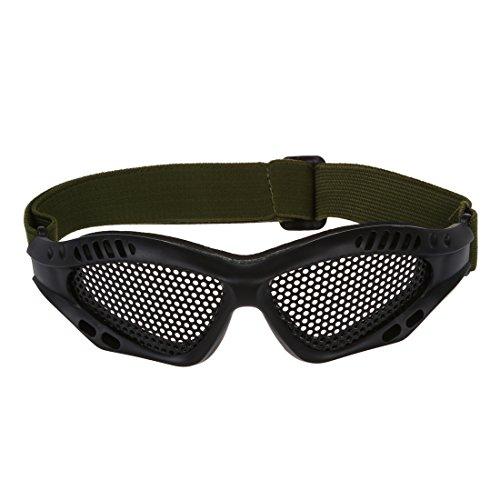 TOOGOO (R) Gafas Tacticas Rejilla Proteccion Ojos Militar Seguridad Supervivencia Negro