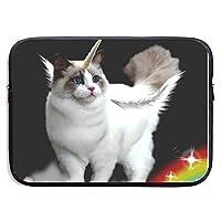 ユニコーン 猫 宇宙虹 PCケース ノートパソコンバッグ ラップトップ用 保護ケース 耐衝撃 撥水加工 軽量 ビジネスバッグ ハンドルバッグ ブリーフケース タブレット ケース スリーブ 13-15インチ