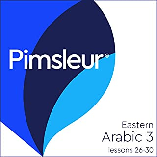 Arabic (East) Phase 3, Unit 26-30     Learn to Speak and Understand Eastern Arabic with Pimsleur Language Programs              Written by:                                                                                                                                 Pimsleur                               Narrated by:                                                                                                                                 Pimsleur                      Length: 3 hrs and 44 mins     Not rated yet     Overall 0.0