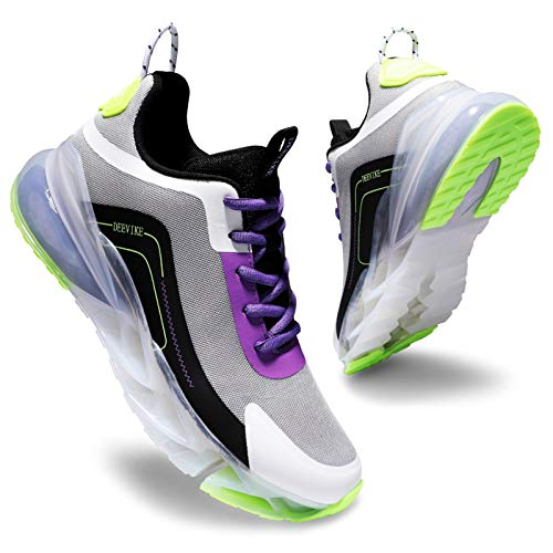 Deevike Sneakers Donna Scarpe Running Donna Scarpe Donna Scarpe da Ginnastica Donna Scarpe Sportive Donna Viola Verde-39