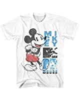 Mickey Mouse DIY Overlay Disneyland World Retro Classic Vintage Tee Funny Humor Adult Mens Graphic T-Shirt Apparel (White, Large)