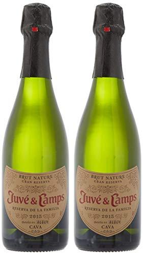 Juvé & Camps | Cava Reserva Familia | Gran Reserva Brut Nature | Estuche regalo 2 botellas de 75 cl | Macabeu, Xarel·lo, Parellada