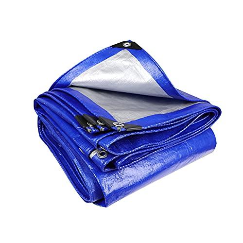 AWSAD Telone PE Blu-Argento Copertura Impermeabile Tenda da Sole da Giardino Barca A Vela Ombra per Pollame Fienili Canili Telone Impermeabile per Esterno (Color : Blue, Size : 4x8m)