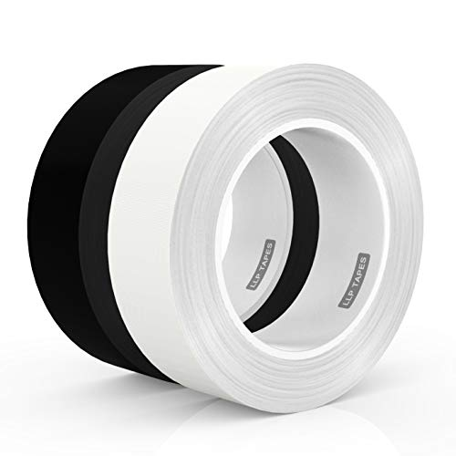 LLPT Gaffer Tape 1 Inch x 30 Feet x 2 Packs Premium Grade Residue Free Removable Strong None Reflective Adhesive(GT130)