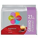 Tassimo Café Dosettes - 105 boissons Espresso Classique (lot de 5 x 21 boissons)
