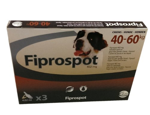 Fiprospot anti puces chien 40/60 kg 3 pipettes