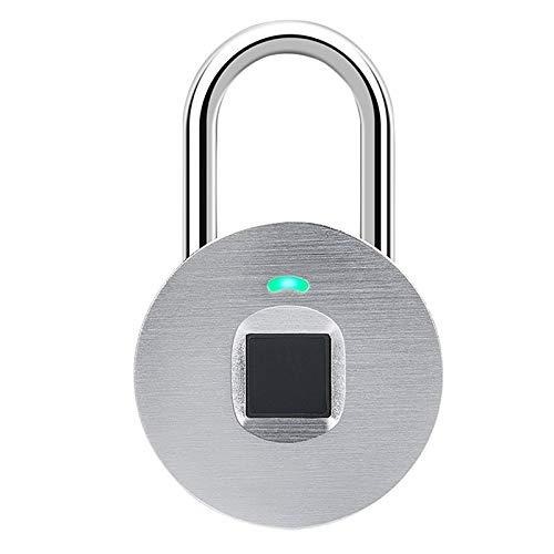ECSWP WODEDAN Fingerprint-Vorhängeschloss, Fitness-Locks für Schulschließfächer und Mitarbeiterschließungen, Außen, Zäune, Schließfächer für Schließfächer