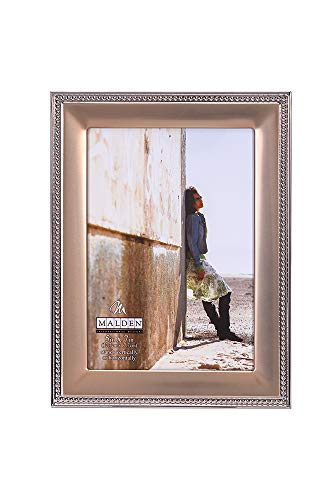 Malden International Designs 5295-57 Classic Gold Metal With Silver Beads 2-Tone Picture Frame, 5x7, Gold