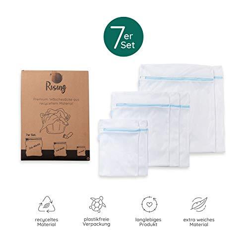 Rising Wäschenetze (7er Set) für optimalen Schutz empfindlicher Kleidungsstücke (recyceltes Material) – weiches Wäschenetz für Waschmaschinen