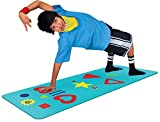 Product Image of the Blue Kids Yoga Mat - Phresh Chi Mat + Free Yoga App & How-To Poster - Exercise...