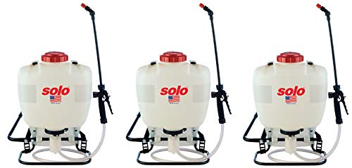 Solo 425 4-Gallon Professional Piston Backpack Sprayer, Wide Pressure Range up to 90 psi (Pack of 3)
