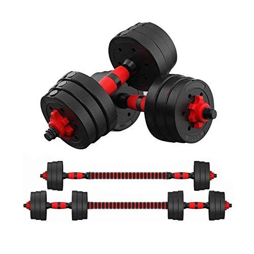 EIIDJFF Mancuernas Ajustables Barra De Pesos Ajustables 2 En 1 Juegos Ejercicio Interior Fitness Home Workout para Hombres Y Mujeres Equipos De Fitness (Talla : 10KG)