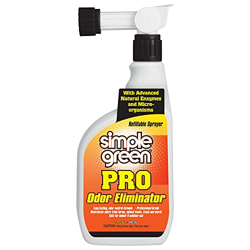 Pro Outdoor Odor Eliminator 32oz Hose End- Professional & Commercial Grade Enzyme Cleaner - Ideal for Farms, Athletic Facilities,