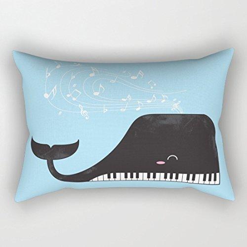Diseño de tiburón pianista rectangular...