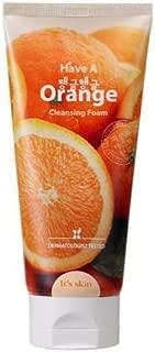 have a orange cleansing foam