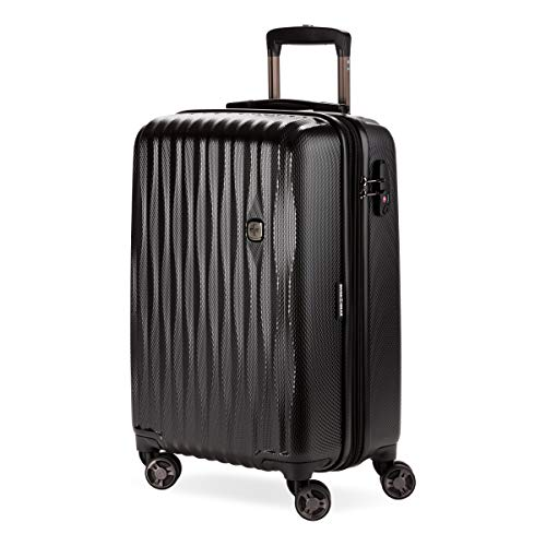 SWISSGEAR 7272 Energie Hardside Polycarbonate Spinner, Carry-On Luggage - Black