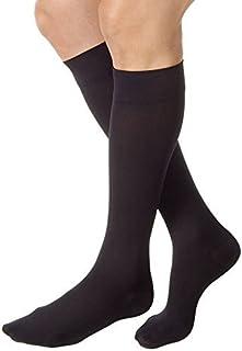 JOBST Relief Knee High 20-30 mmHg Compression Socks, Closed Toe, Black, Large